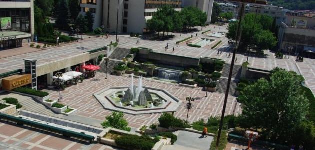 Изглед от центъра на Благоевград